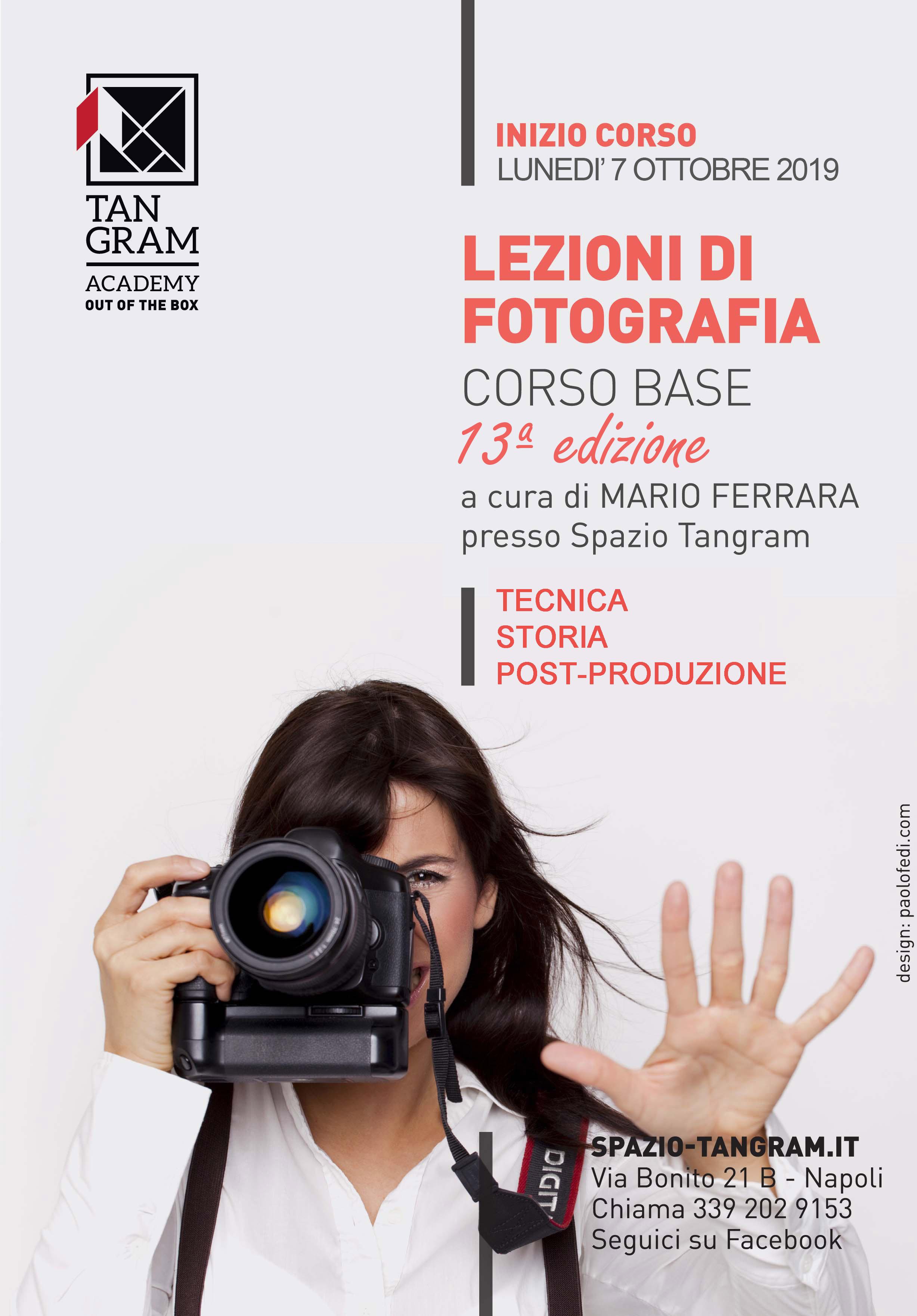 Corso Lezioni di fotografia con Mario Ferrara a Spazio Tangram