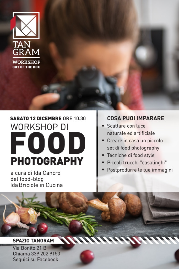 workshop di food photography