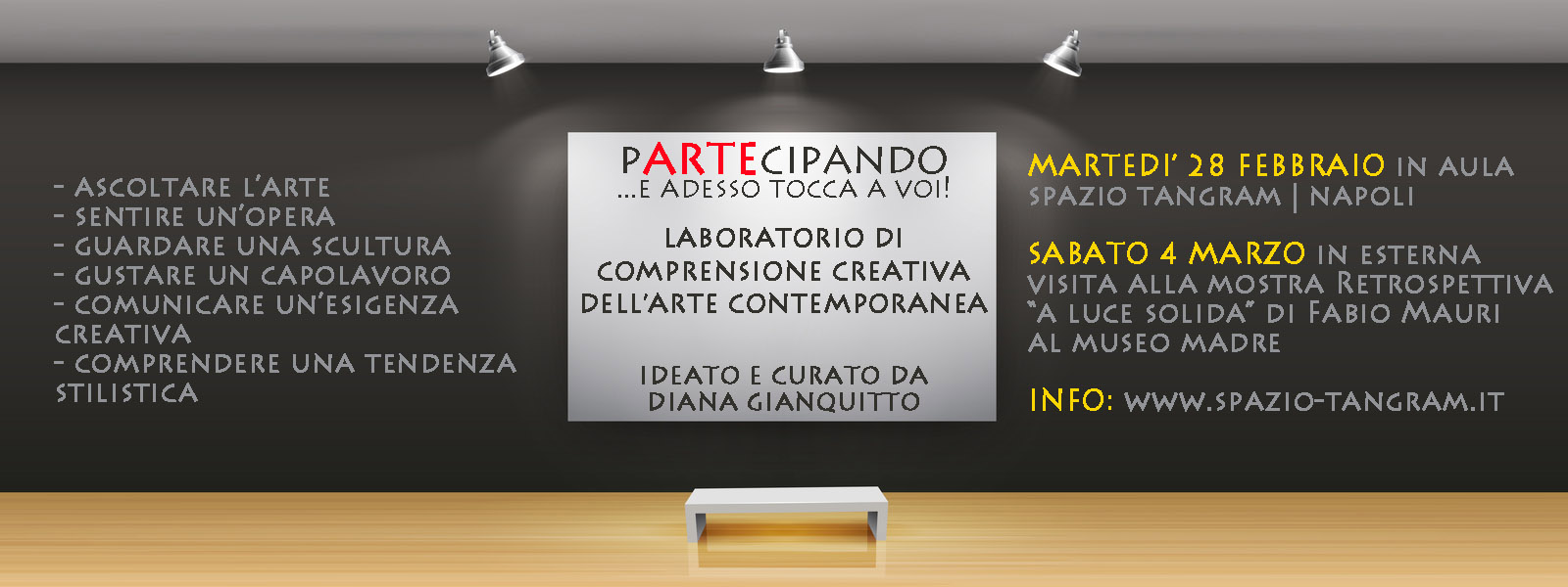 laboratorio di comprensione creativa dell'arte contemporanea