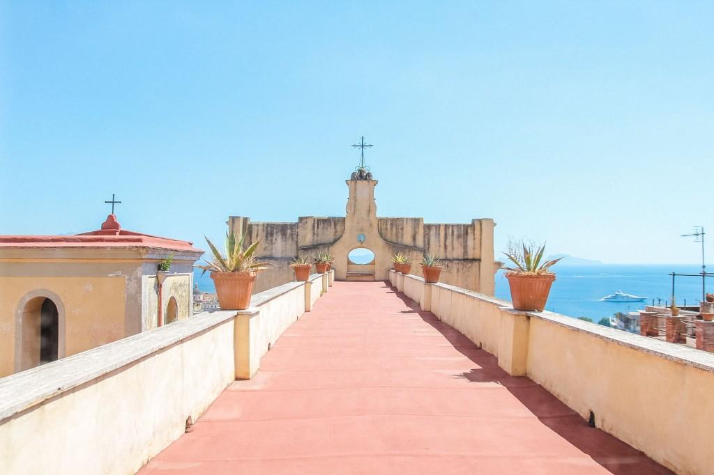 La terrazza panoramica di Casa Tolentino