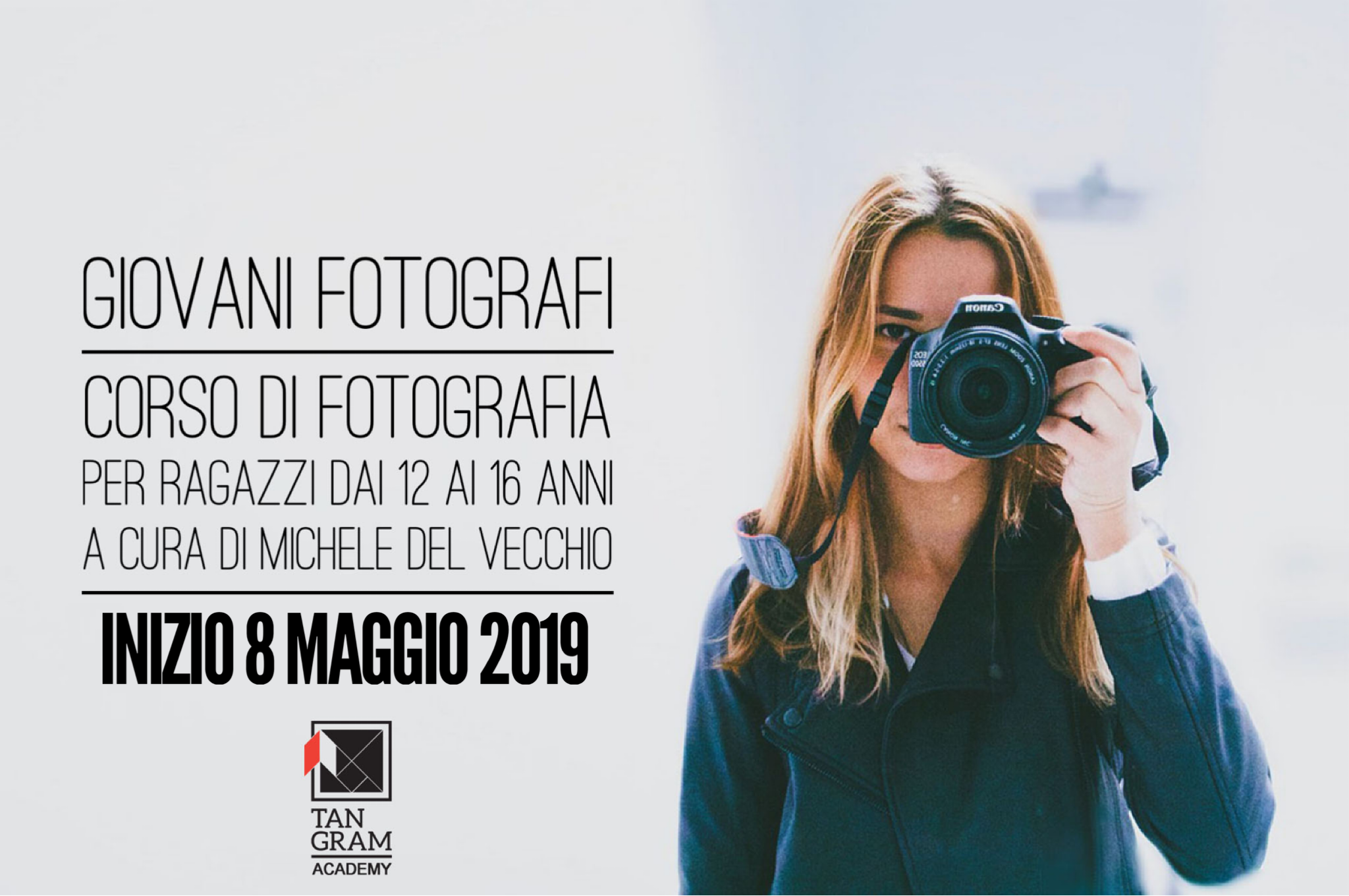 """""""Giovani Fotografi""""   corso di fotografia per ragazzi dai 12 ai 16 anni   a cura di Michele Del Vecchio"""