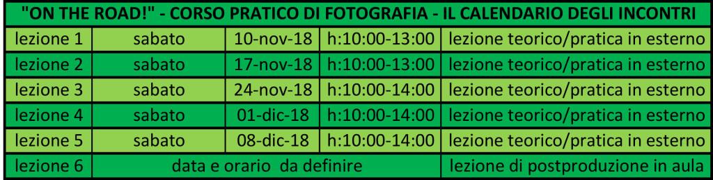 calendario incontri