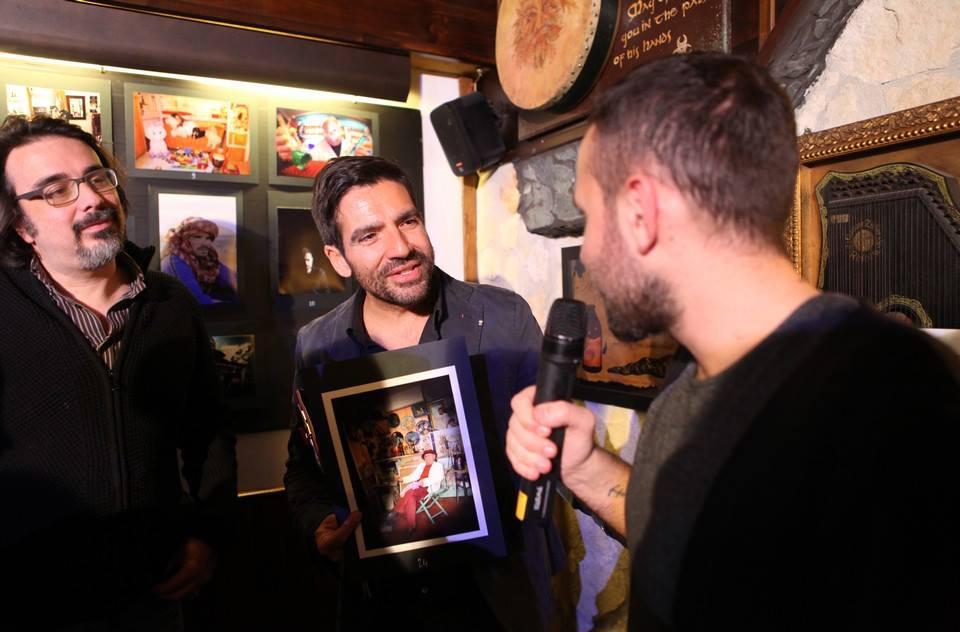 Michele Del Vecchio di Spazio Tangram con il fotografo Riccardo Piccirillo