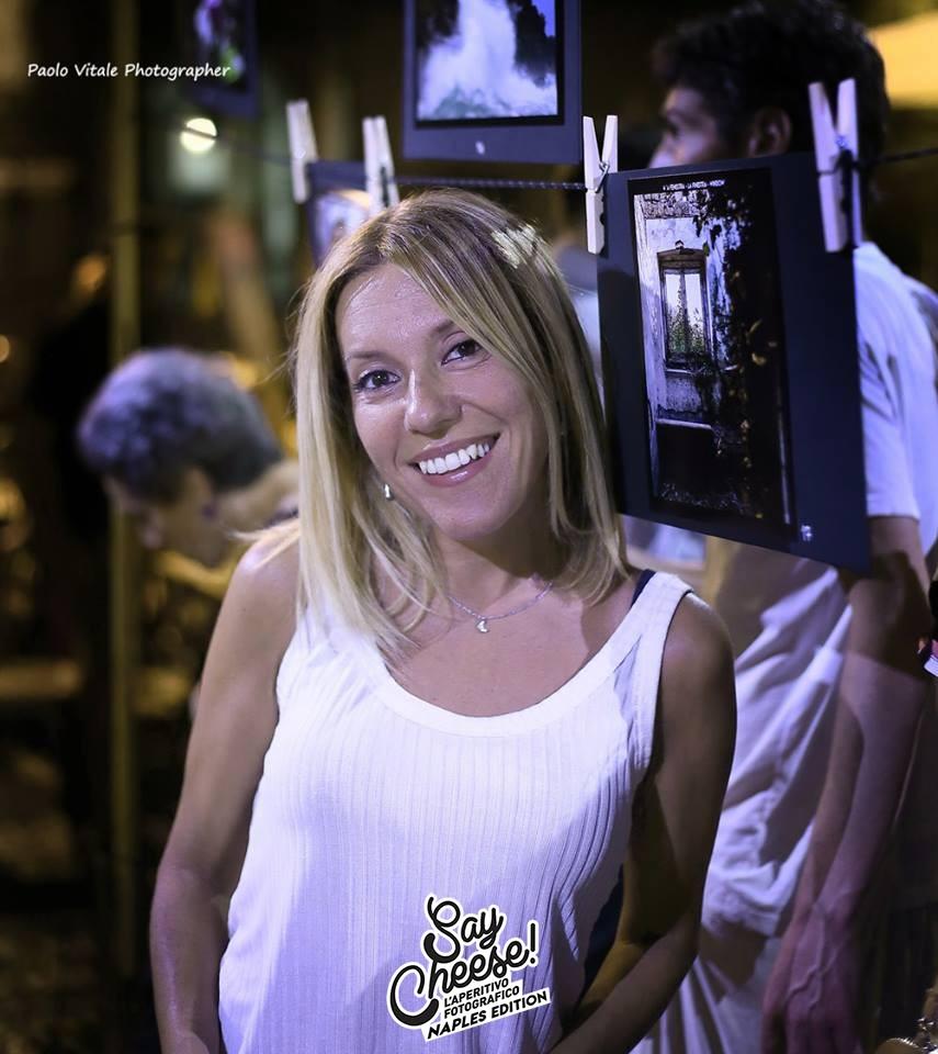 l'amica Stefania al nostro Say Cheese! Aperitivo fotografico