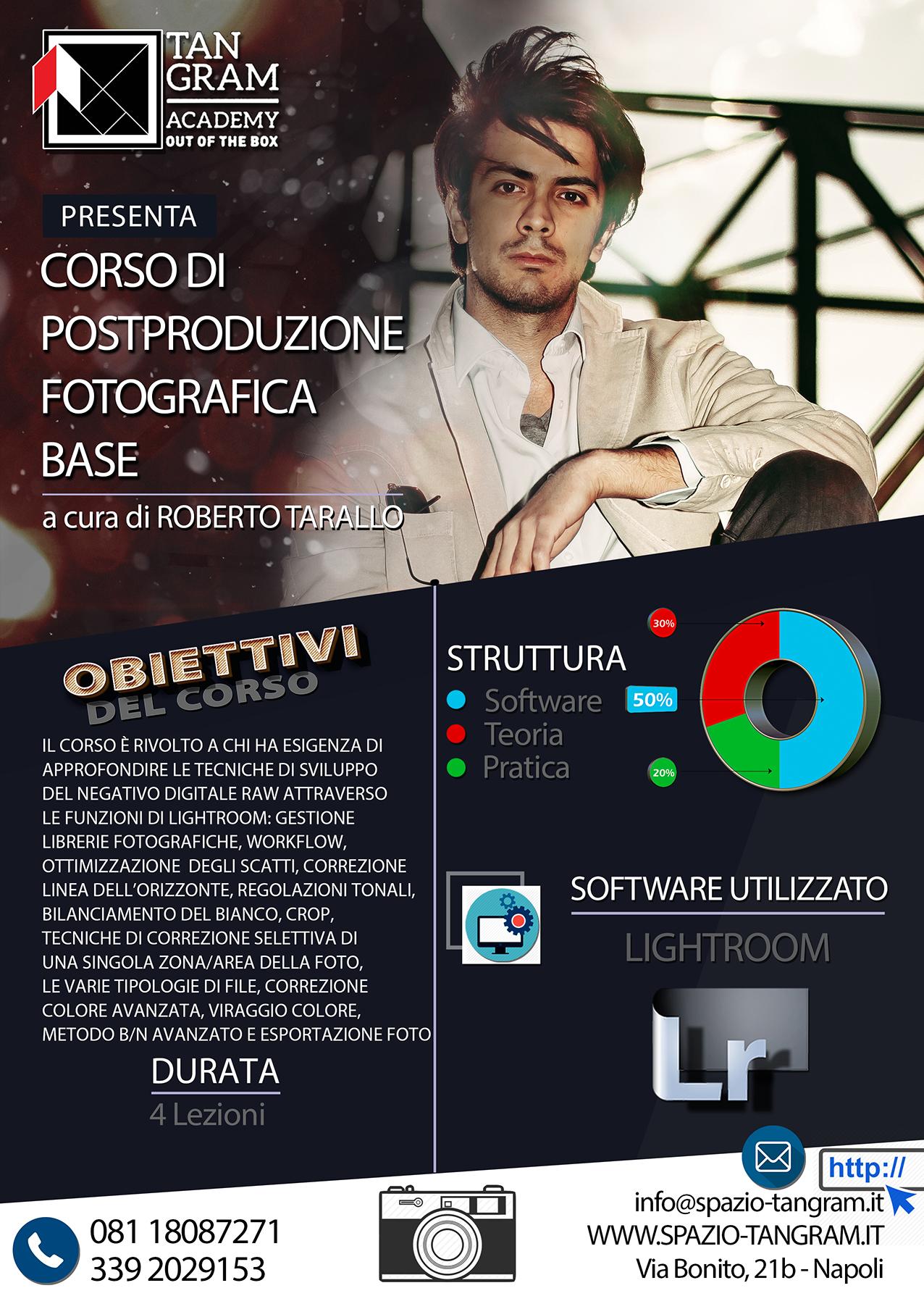 Corso di post produzione fotografica a Napoli