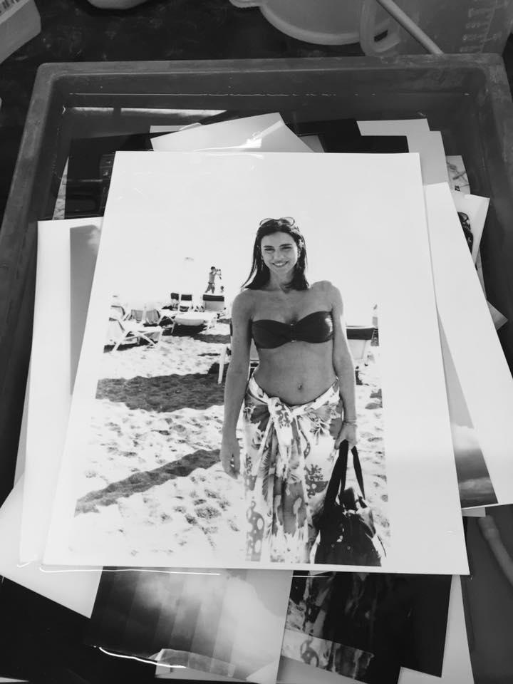 una foto stampata in camera oscura