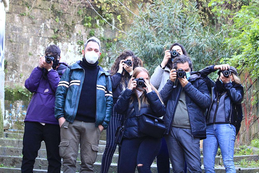 Esercitazione fotografica in esterno | corso di fotografia a Napoli
