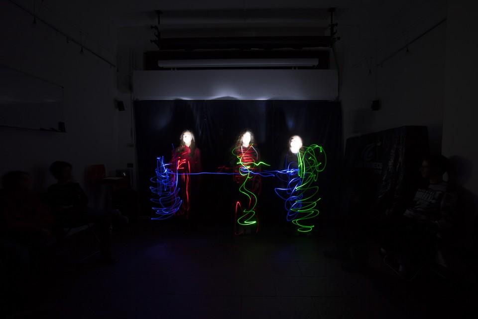 Esercitazione di light painting