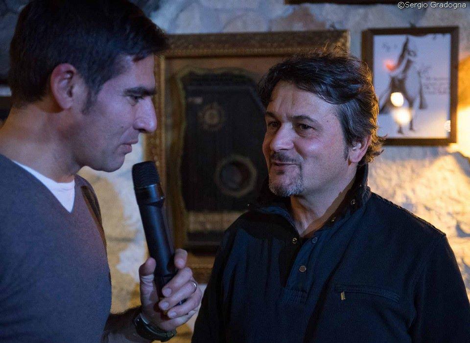 Michele Del Vecchio di Spazio Tangram con il fotografo Sergio Siano
