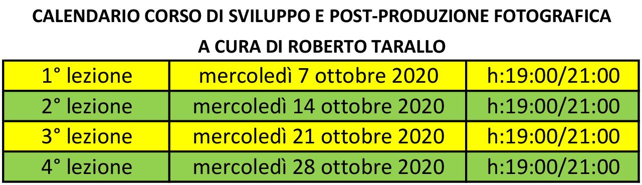 Il calendario del corso di post produzione fotografica a Napoli