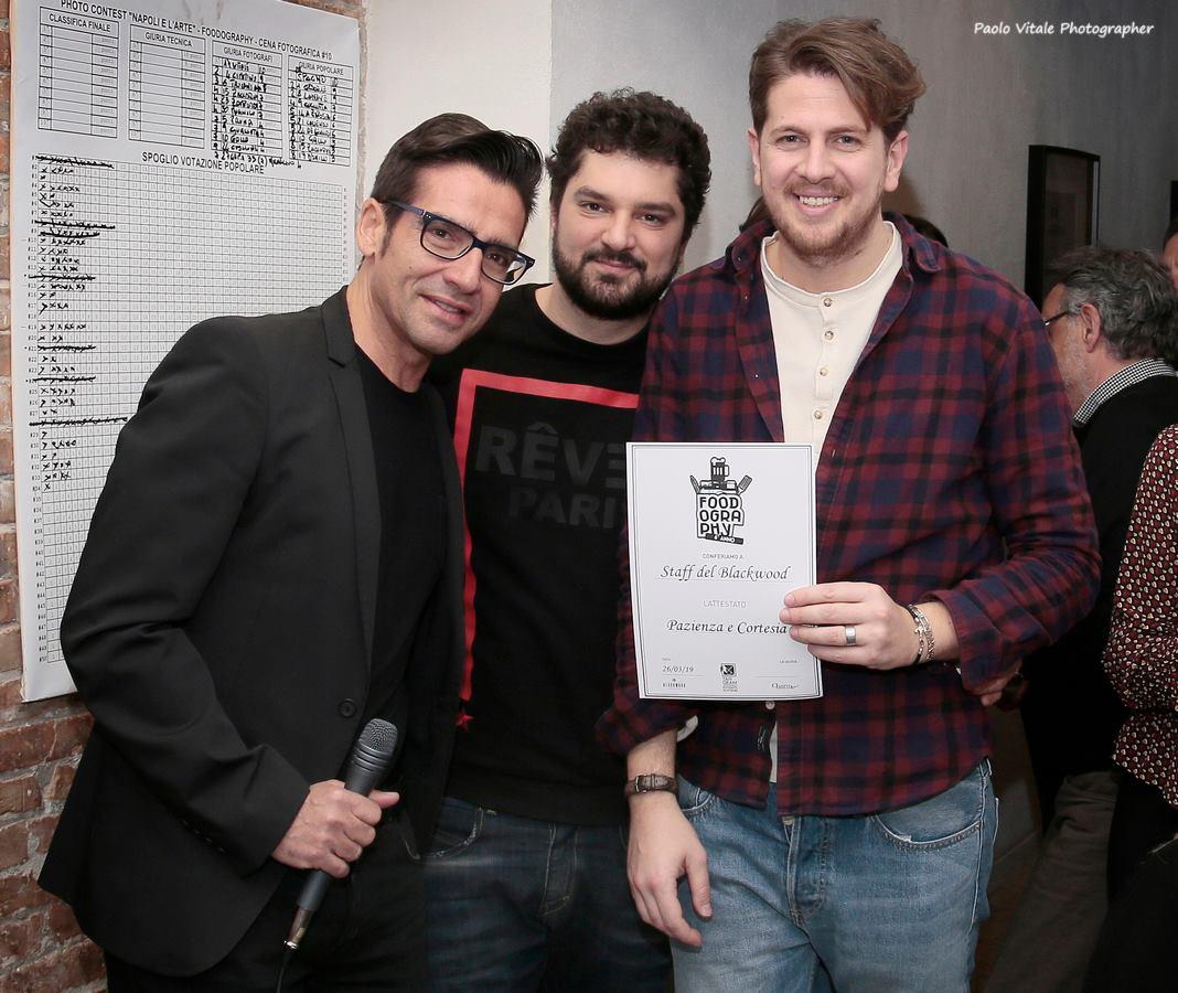 Michele Del Vecchio di Spazio Tangram con Claudio D'antò ed Alessandro Panico del Blackwood