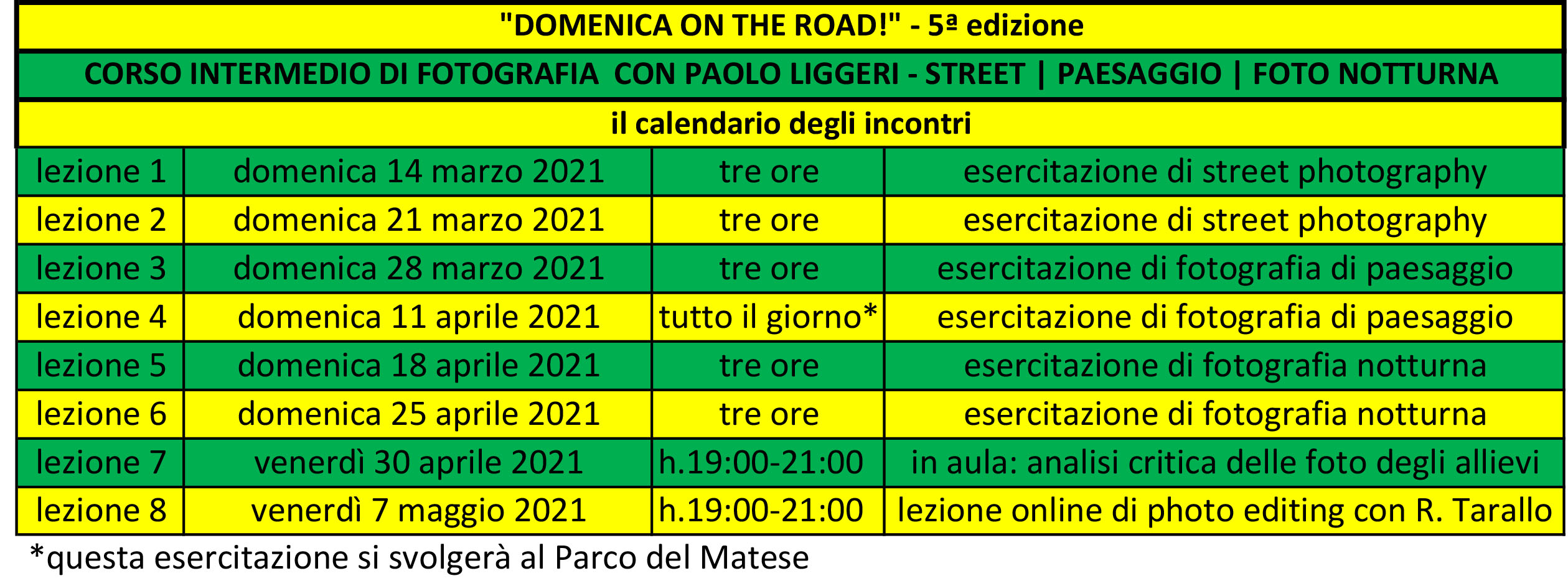 calendario incontri DOMENICA ON THE ROAD-5