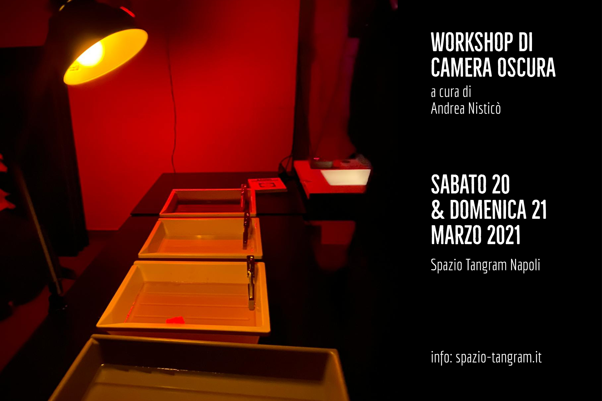 workshop intensivo di sviluppo e stampa in camera oscura a Napoli